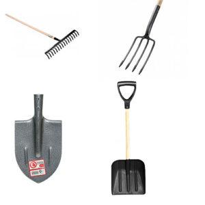 Лопати, вили, граблі